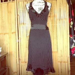 Sourpuss polka dot halter dress